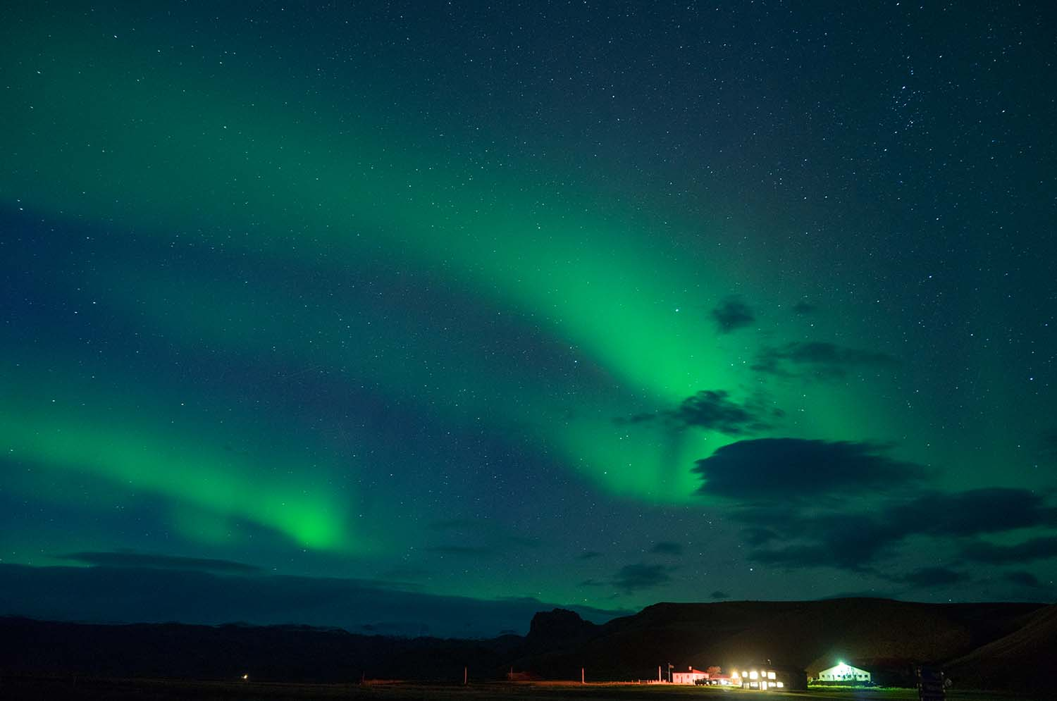 Northern Lights on the North East Region of Iceland